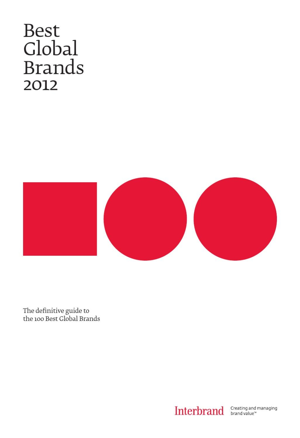 Best global brands 2012 by interbrand issuu fandeluxe Choice Image