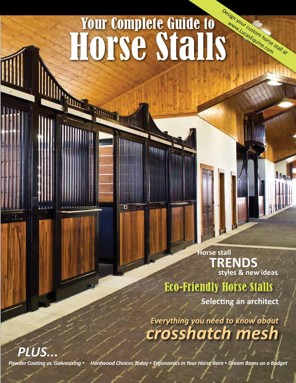 Complete Guide to Horse Stalls by Mandy Gossett - issuu