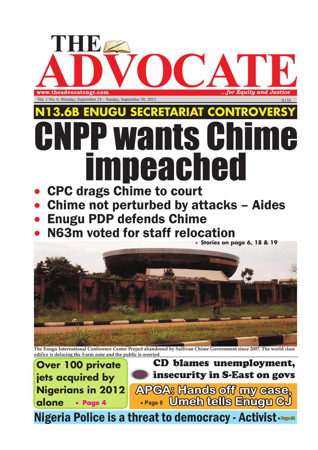 CNPP Wants Chime Impeached By Advocate Nigeria