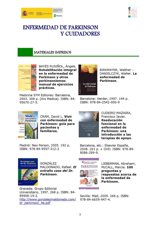 Guía de recursos documentales: Enfermedad de Parkinson y cuidadores by  Centro de Referencia Estatal de atención a personas con enfermedad de  Alzheimer y ...