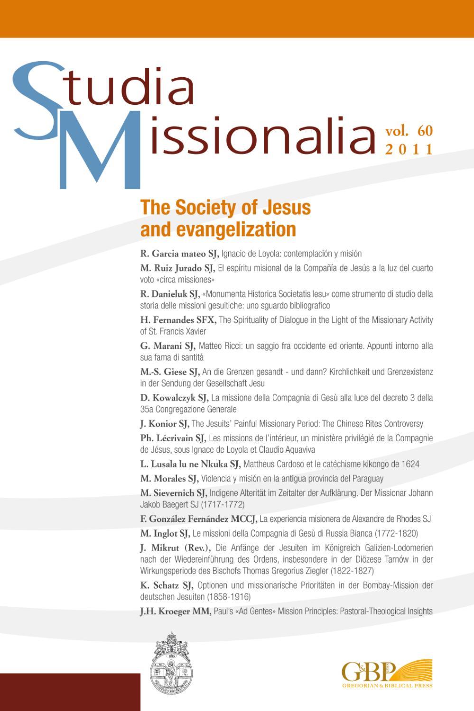 Studia Missionalia N 60 By Gbpressnet Gregorianbiblical