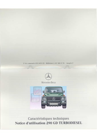 mercedes g 461 290gd owners manual french part 1 by canada g issuu rh issuu com 2009 Mercedes E350 Manual Manual Mercedes Clutch