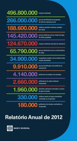 relatório anual 2012 by world bank publications issuu