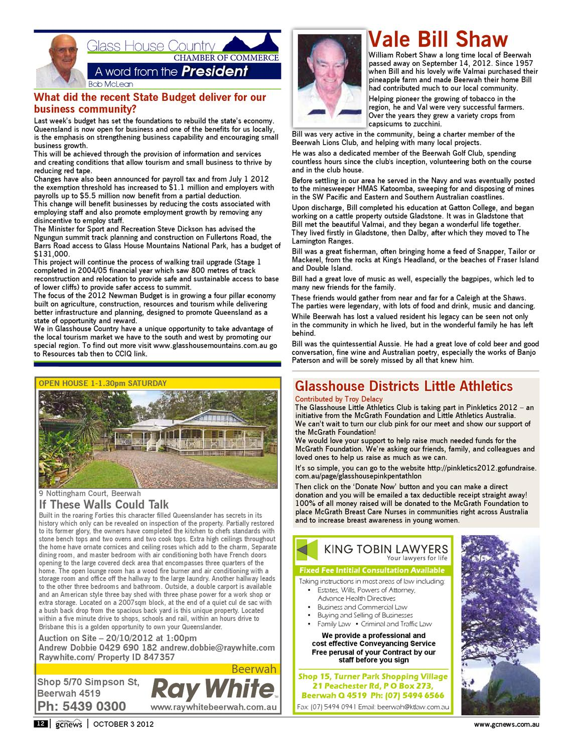 Edition 3 October 2012 by Glhouse Country & Maleny News ... on