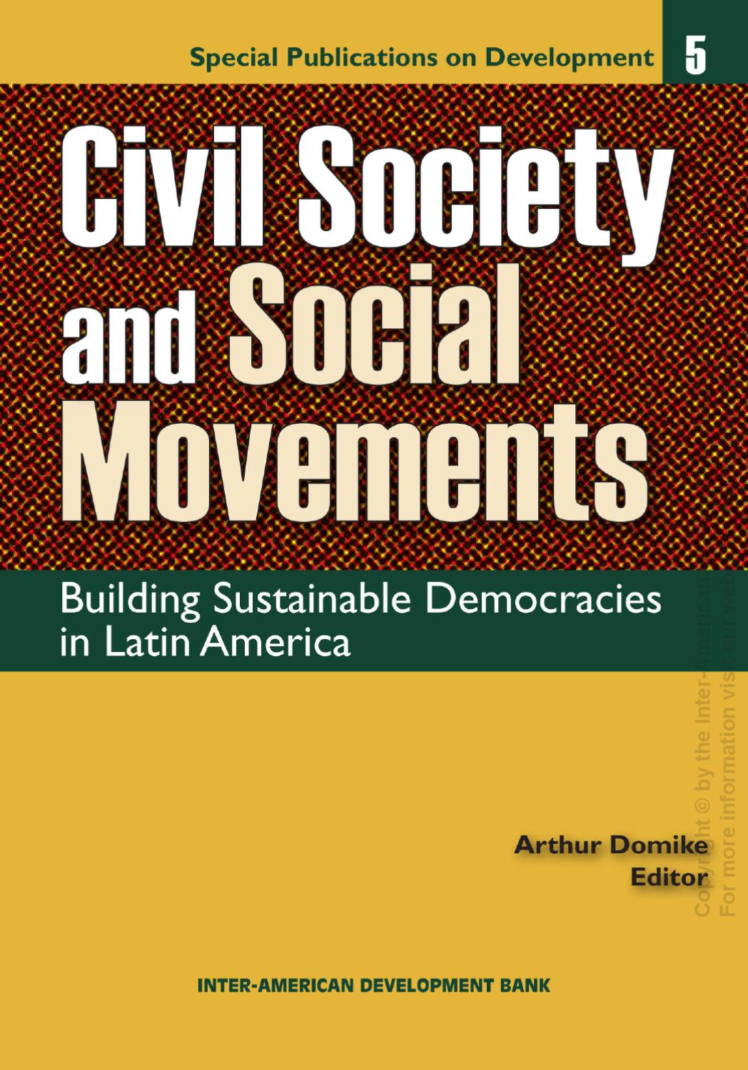 Civil Society and Social Movements: Building Sustainable ...