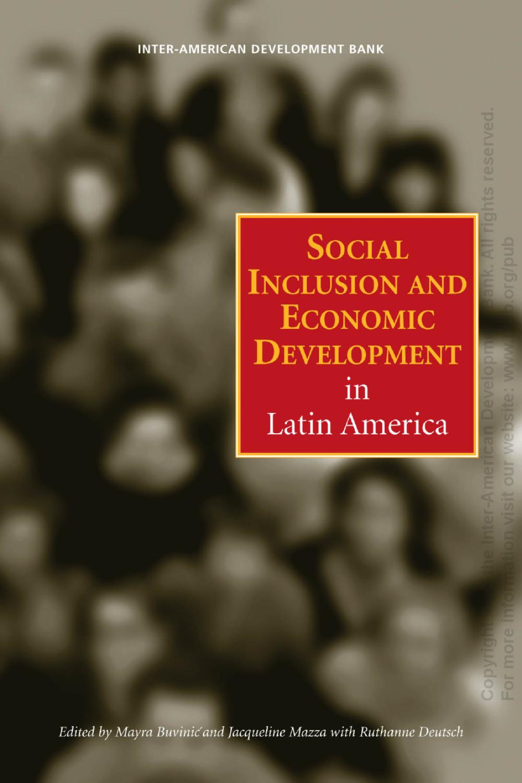 Social Inclusion And Economic Development In Latin America By Idb  # Muebles Gacitua Santiago