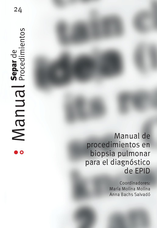 Manual 24 de Procedimientos en biopsia pulmonar para el ...