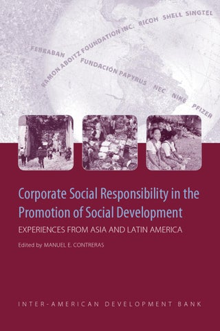 new product a5dbe 38342 Corporate Social Responsibility in the Promotion of Social .