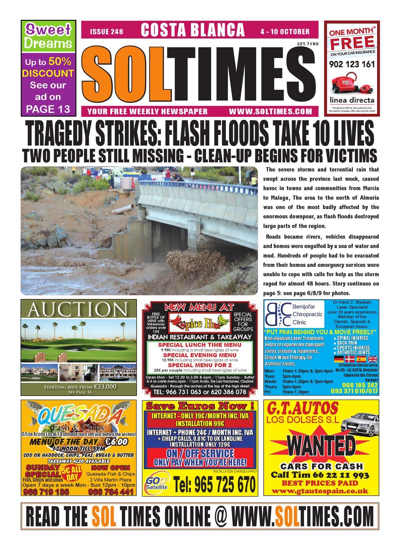 4fdf5b1187e Sol Times Newspaper issue 248 Costa Blanca Edition by nigel judson - issuu