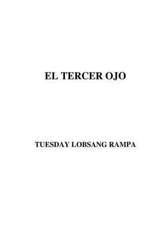 EL TERCER OJO (LOBSANG RAMPA) by Revista Sanadores - issuu