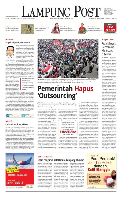 Lampungpost Edisi 04 Oktober 2012 By Lampung Post Issuu Kopi Robusta Yoen Iskan Akumandiri