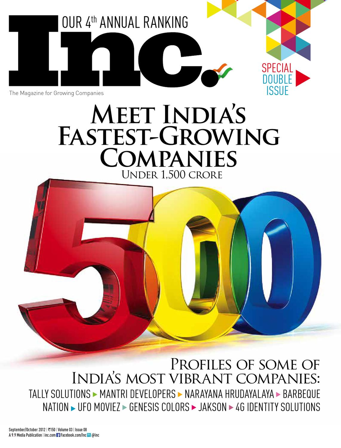 MEET INDIA'S FASTEST GROWING COMPANIES UNDER 1,500 CRORE by