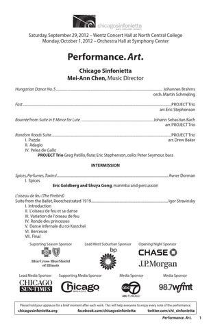 Performing Art-Chicago Sinfonietta by Footlights com - issuu
