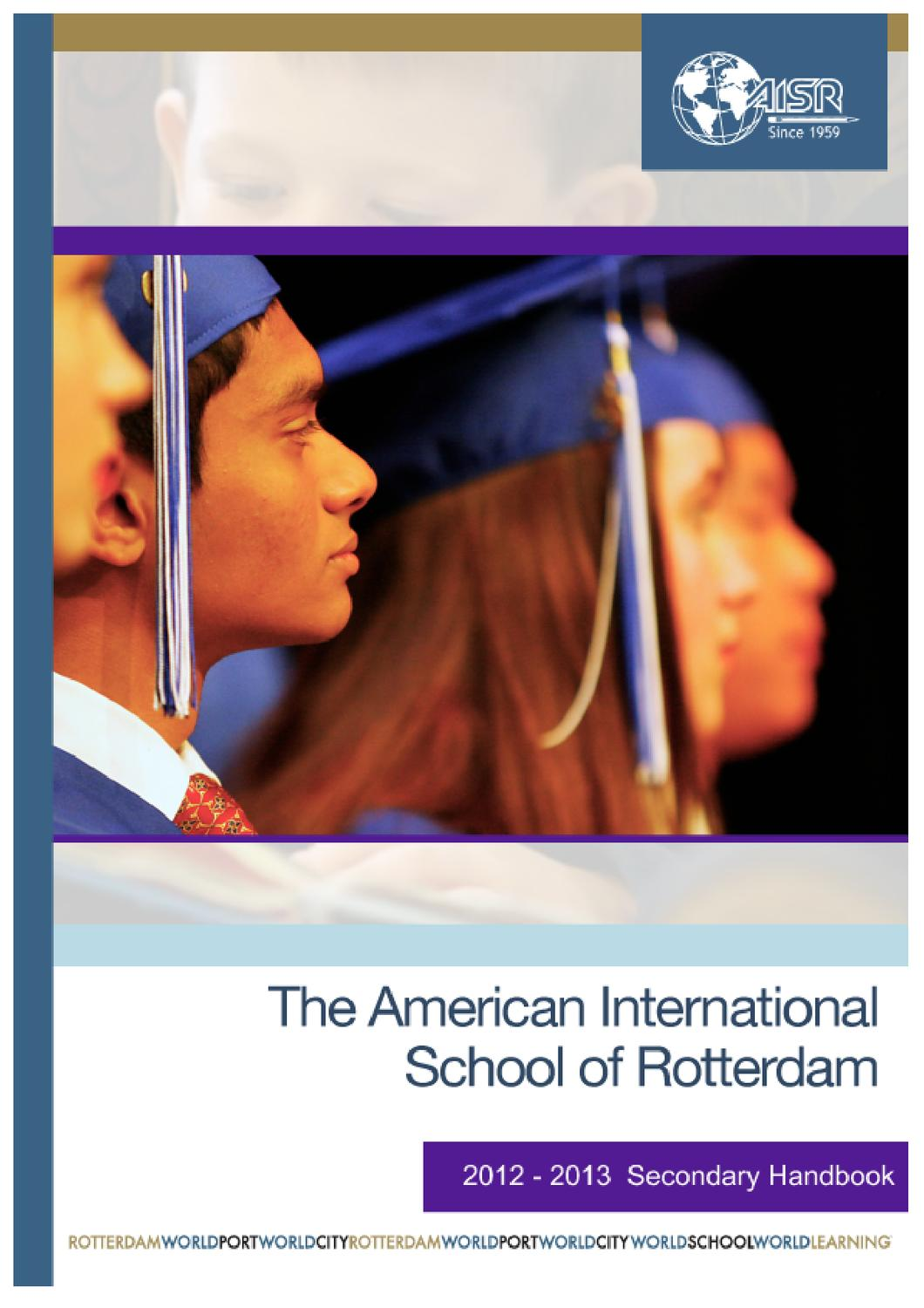 2012-13 Secondary Handbook (Update 09/12) by The American ...