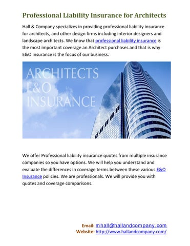 Attractive Professional Liability Insurance For Architects Hall U0026 Company Specializes  In Providing Professional Liability Insurance For Architects, And Other  Design ... Gallery