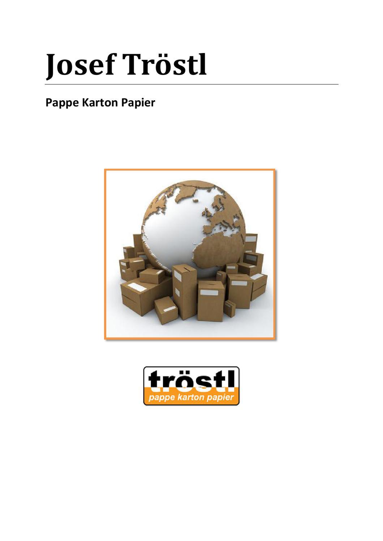 Josef Tröstl Pappe Karton Papier Büroartikel By Bernhard