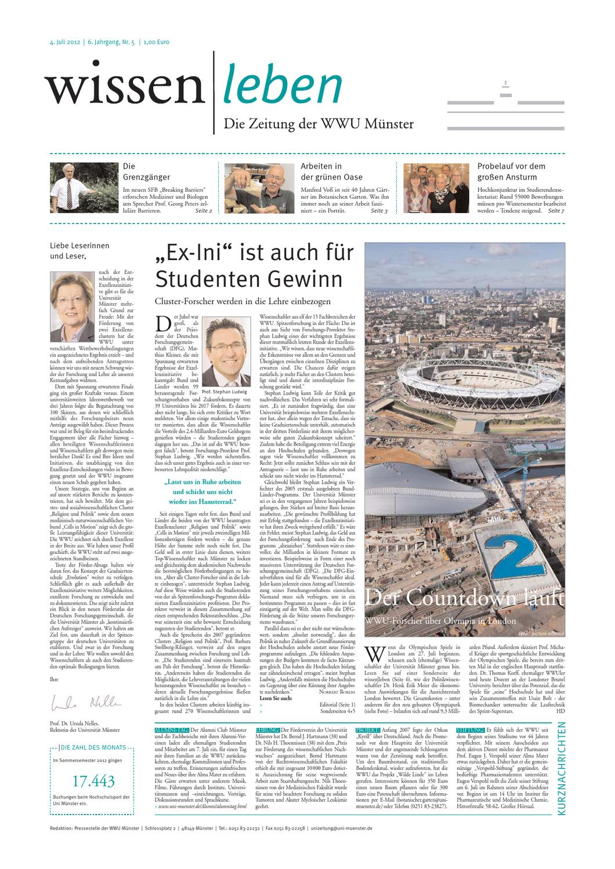 WISSEN|LEBEN - DIE ZEITUNG DER WWU MÜNSTER by Westfälische Wilhelms ...