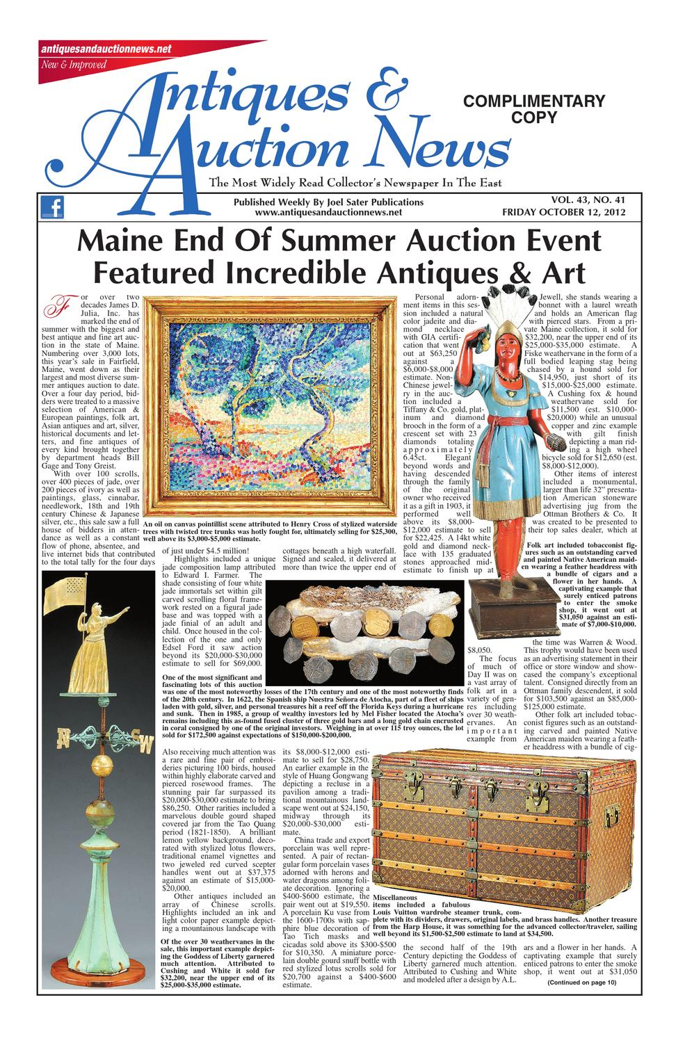 Antiques Auction News 101212 By Antiques Auction News Issuu