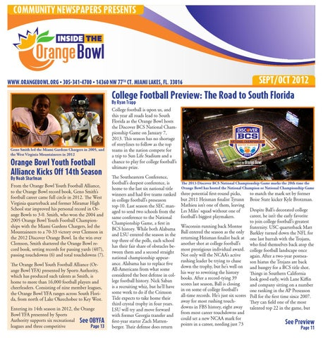 Inside the Orange Bowl Sept Oct 2012 by Community Newspapers - issuu fbc66be15