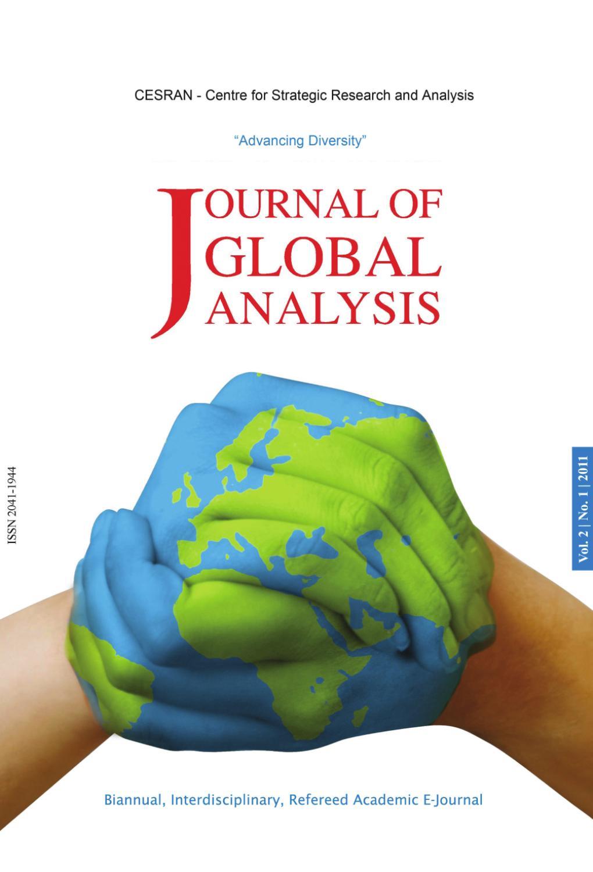 Journal of Global Analysis Vol. 2 No. 1 by CESRAN International ...
