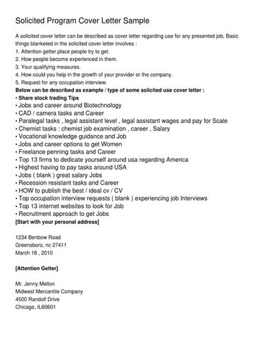Solicited Program Cover Letter Sample By Jose Julius Issuu