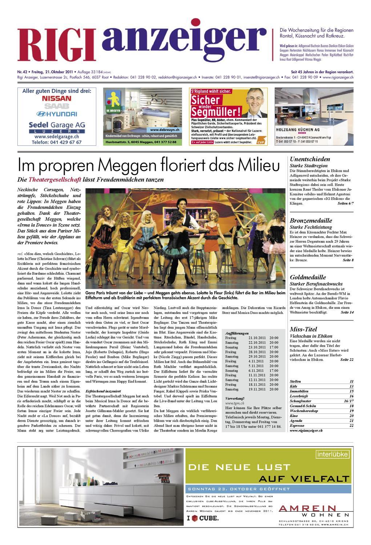 21. Oktober 2011 by Rigi Anzeiger GmbH - issuu