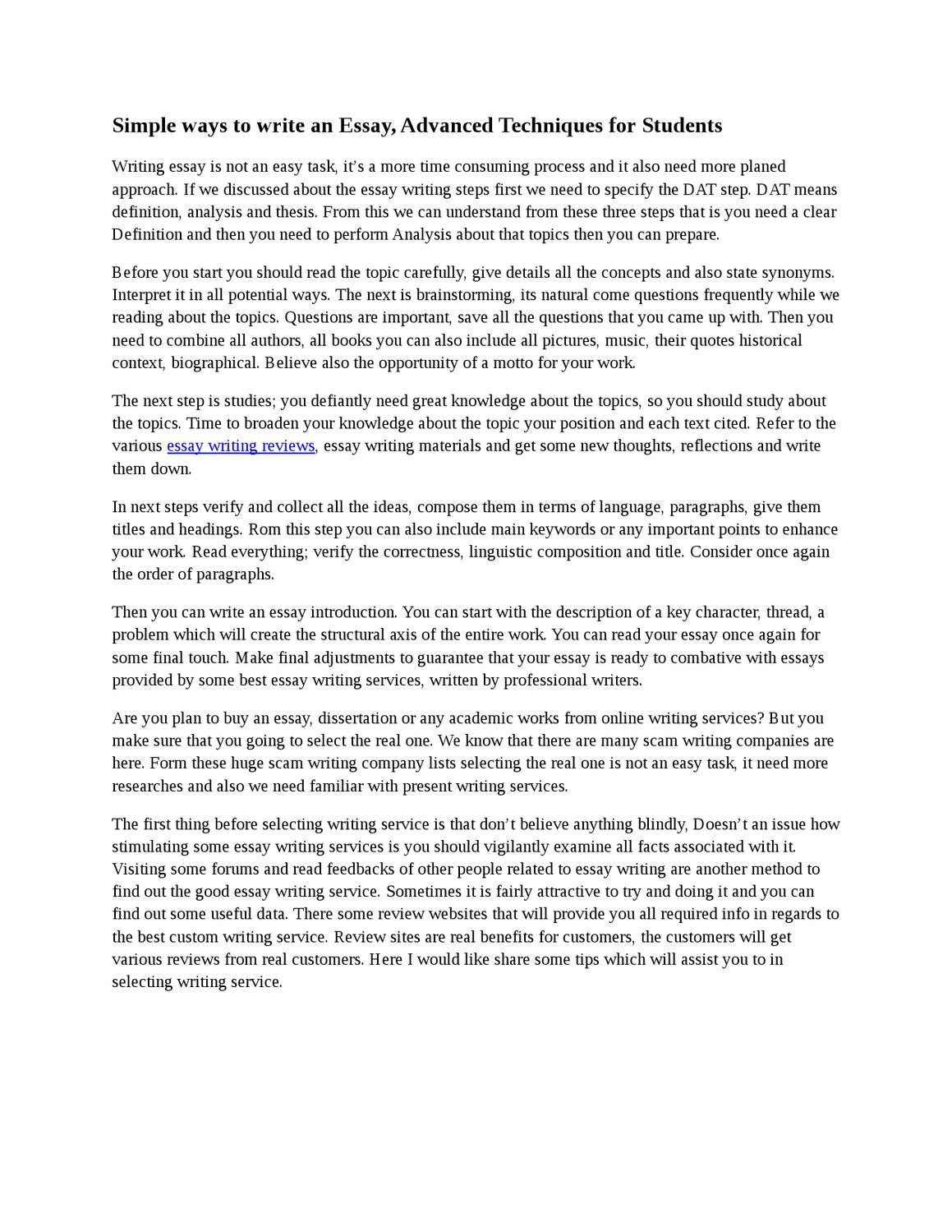 Science Essay Questions Simple Ways To Write An Essay Advanced Techniques For Students By Jessey  Broad  Issuu Essay On English Subject also Essay On Pollution In English Simple Ways To Write An Essay Advanced Techniques For Students By  Cause And Effect Essay Topics For High School