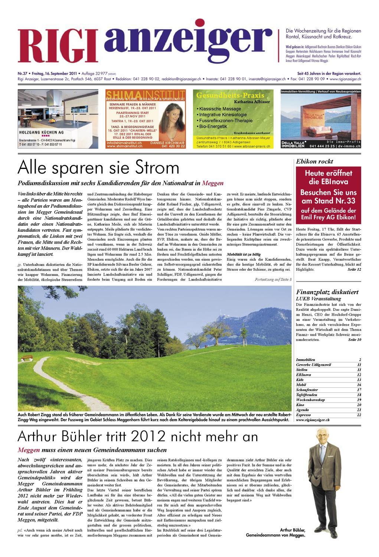 16. September 2011 by Rigi Anzeiger GmbH - issuu