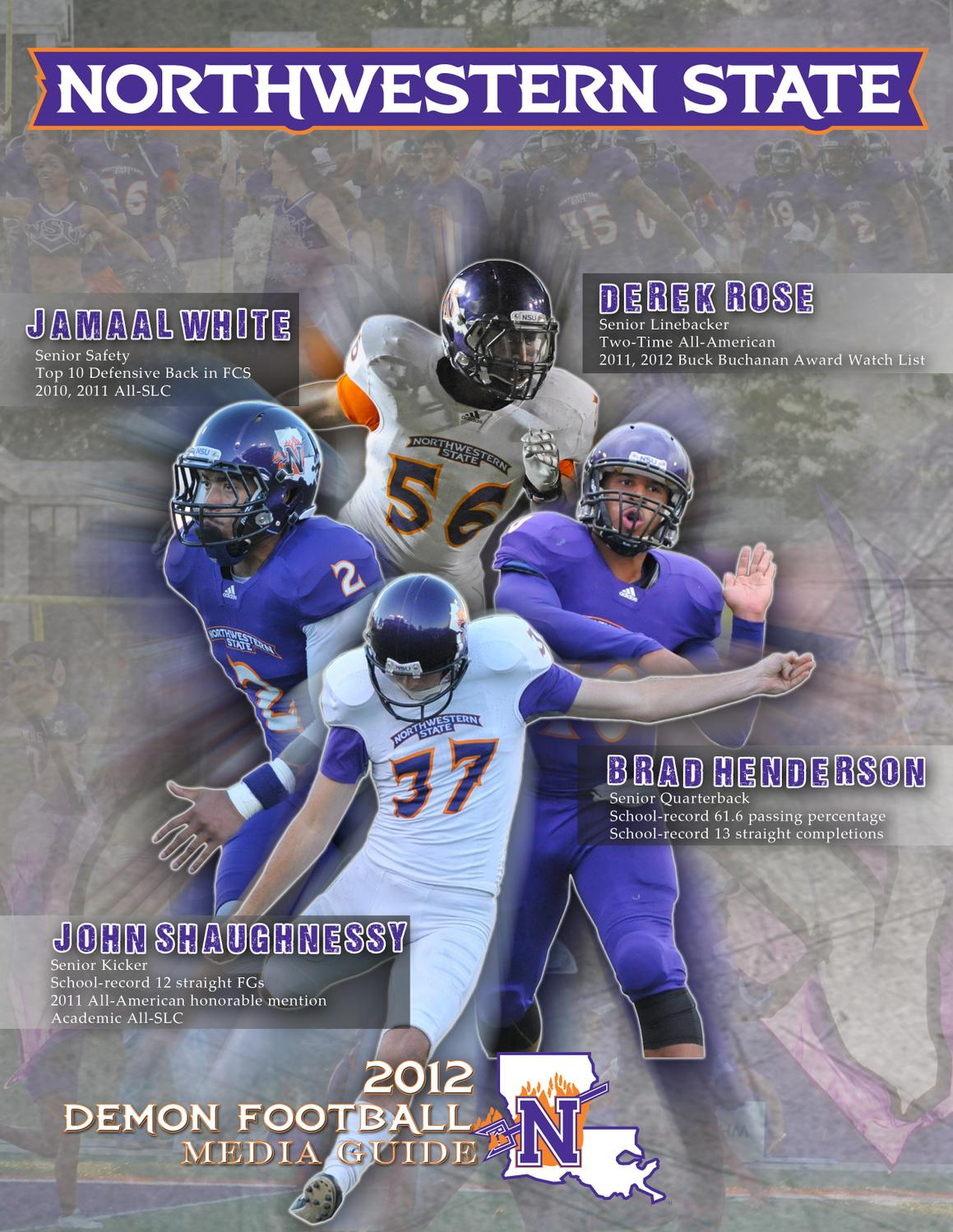 016799db4 2012 Demon Football Media Guide by Northwestern State Athletics - issuu