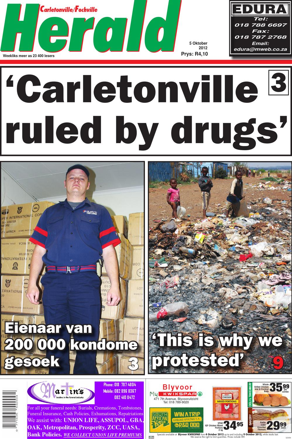 Carletonville herald edition 05 oct 2012 by for Pub cash piscine