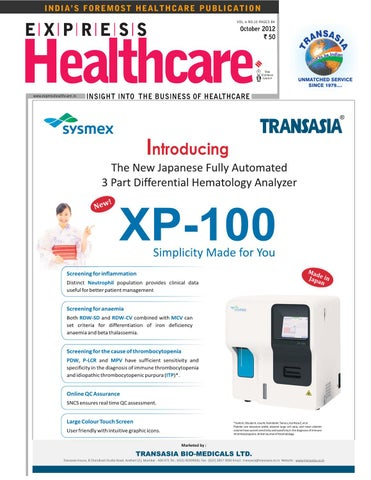 Express Healthcare October 2012 by Indian Express - issuu