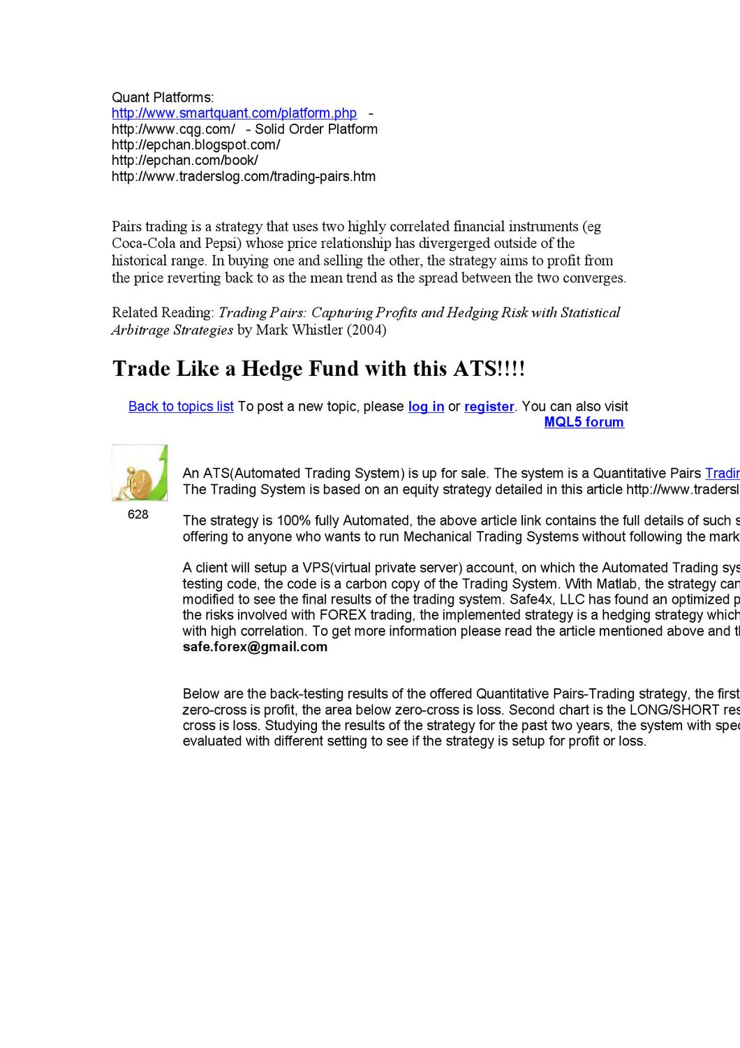 Quant Links by Magna Forex Signals - issuu