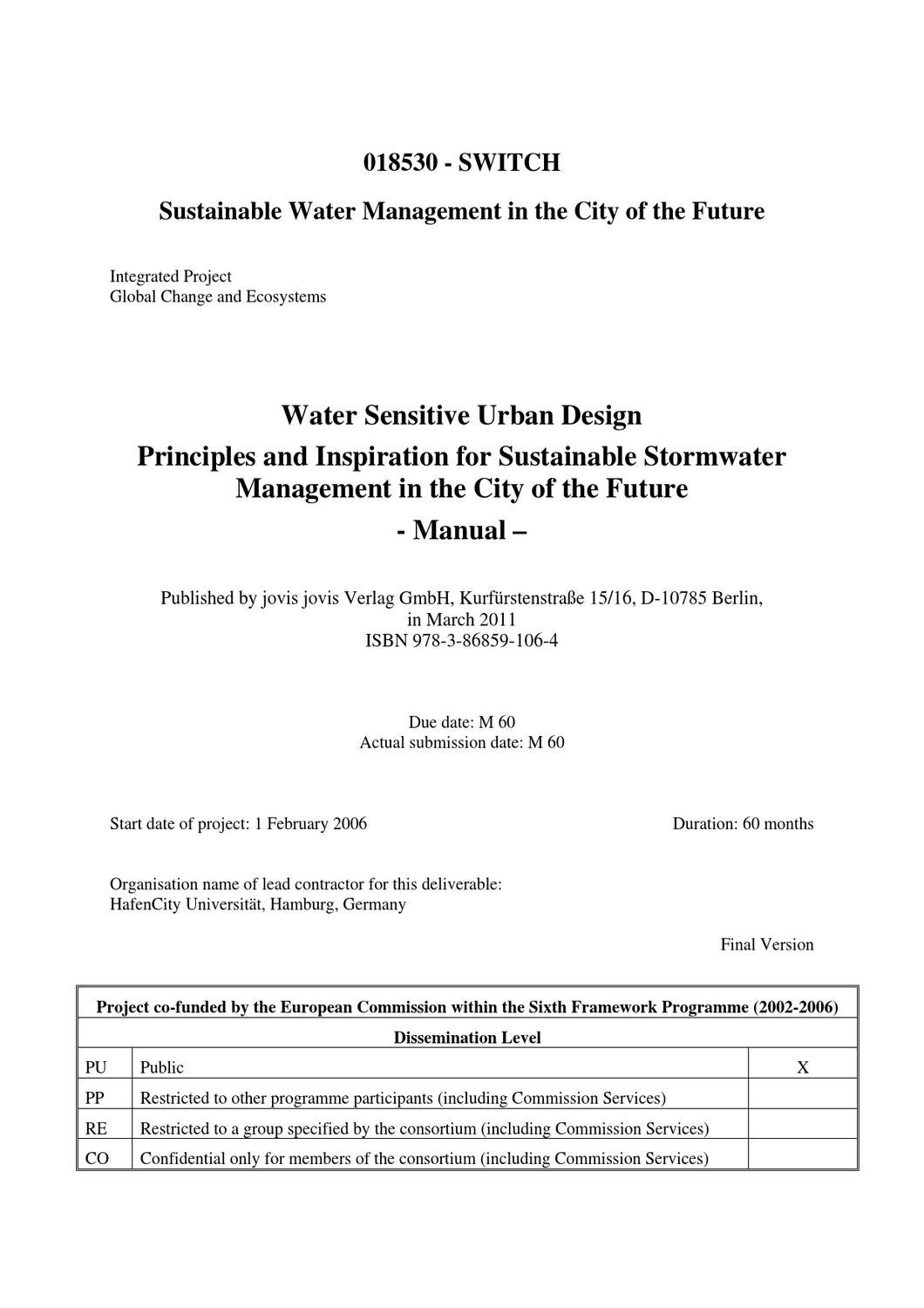 Sustainable Water Management in the City of the Future by Alley ...