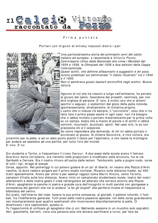 Una Foggia Di Colletto Rigido.Il Calcio Raccontato Da Vittorio Pozzo By Wrestlingweb Magazine Issuu