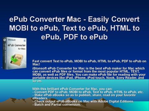 ePub Converter Mac - Easily Convert MOBI to ePub, Text to