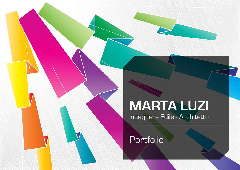 Famoso Portfolio - Marta Luzi - Ingegnere Edile - Architetto by Marta  OU94