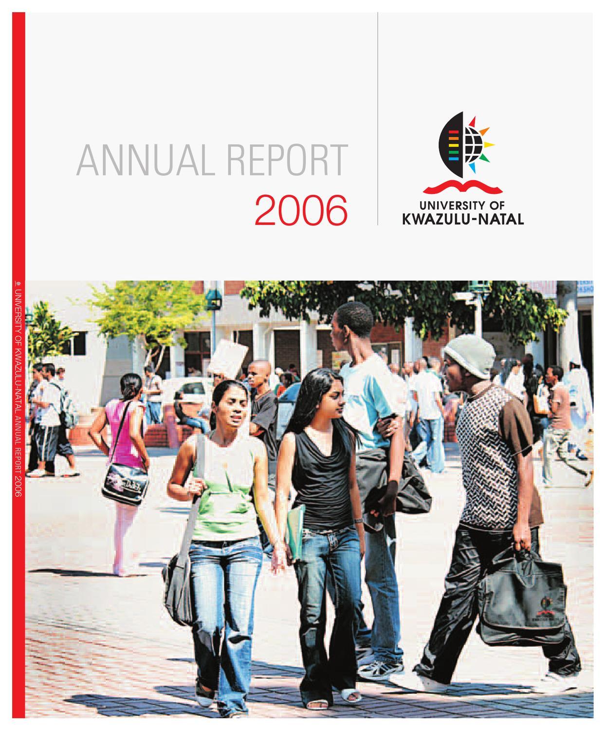 Ukzn Annual Report 2006 By Nitesh Ramsaroop Issuu