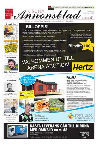 Kiruna Annonsblad 2009 v.41 by Svenska Civildatalogerna AB - issuu 06d4f9dc3faf9