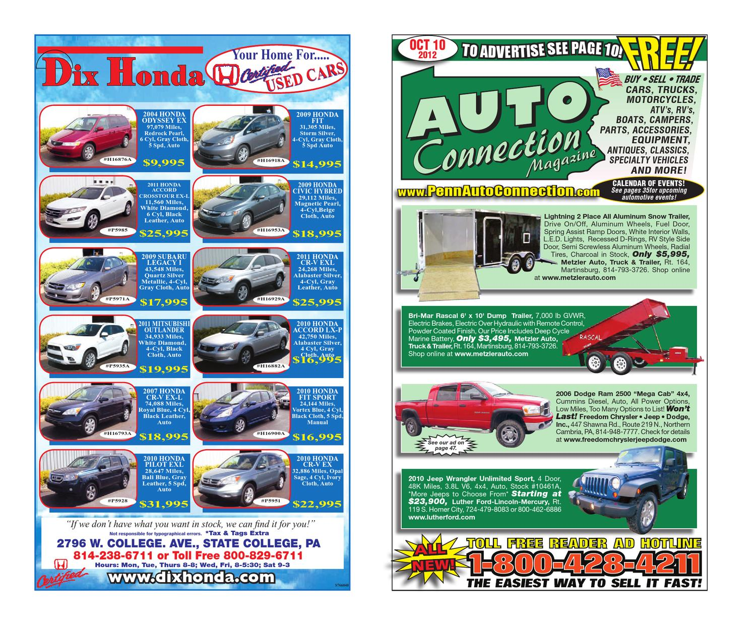 10-10-12 Auto Connection Magazine by Auto Connection