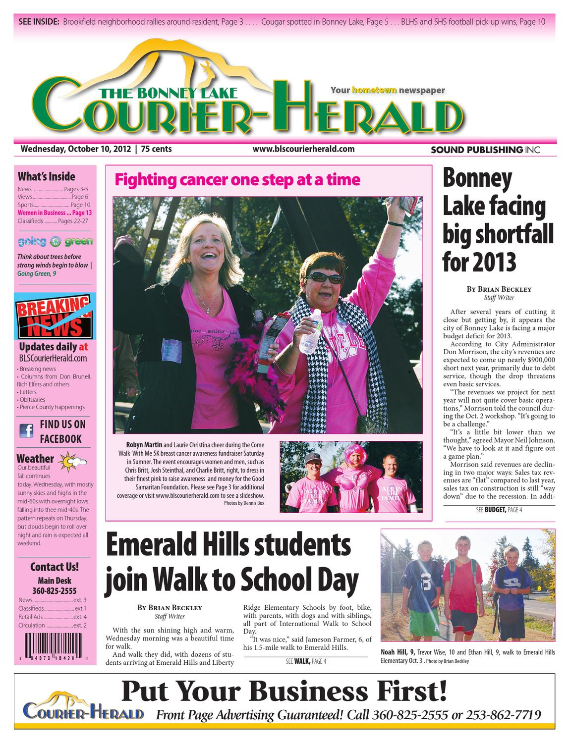 Bonney Lake and Sumner Courier-Herald, October 10, 2012 by Sound ...
