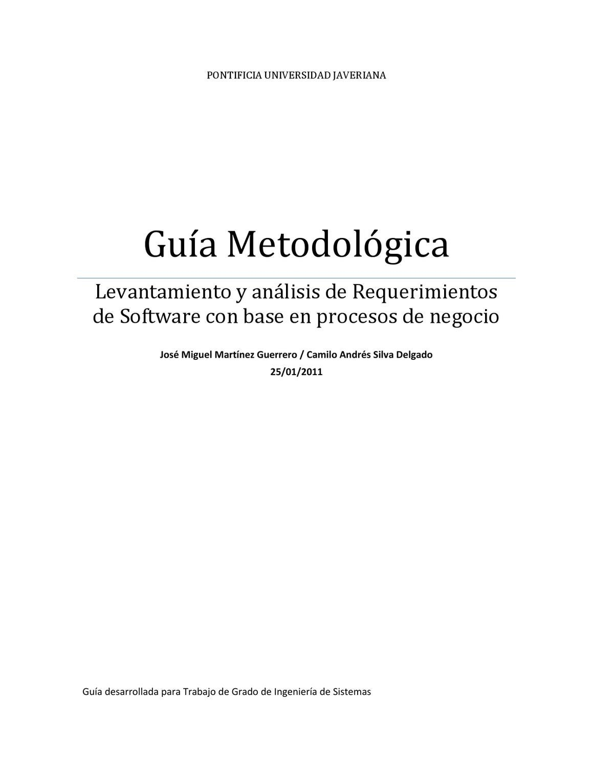 Levantamiento y análisi de requerimientos by Julian David Ramos - issuu