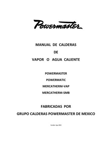 Manual de Calderas Powermaster by Jens Notholt - issuu