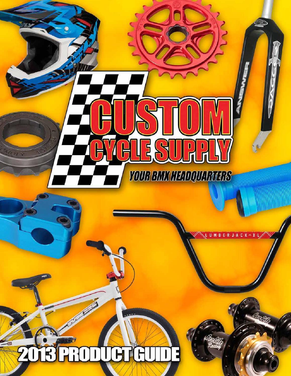 PROFILE RACING GDH 3-PIECE 180MM RHD RAW BMX FIXED BICYCLE CRANK