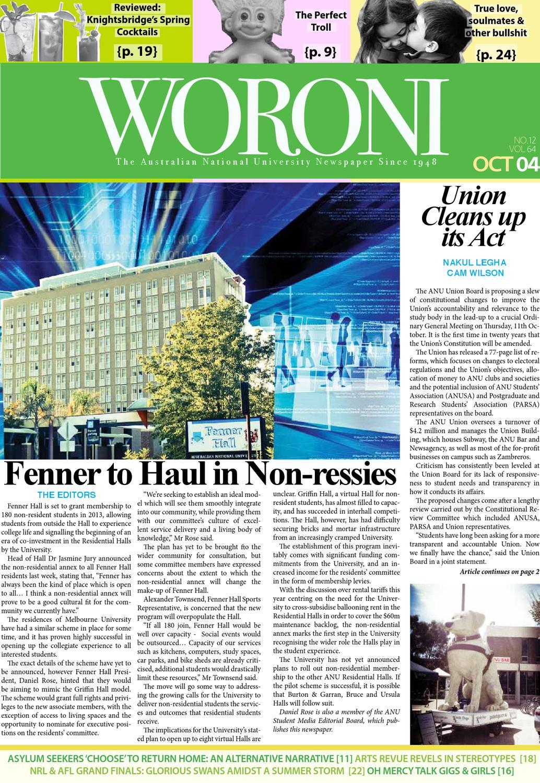 Woroni: Edition 12, 2012 by Woroni - issuu