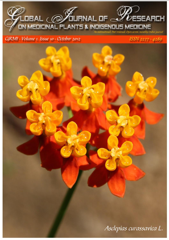 GJRMI - Volume 1, Issue 10, October 2012 by Dr  Hari