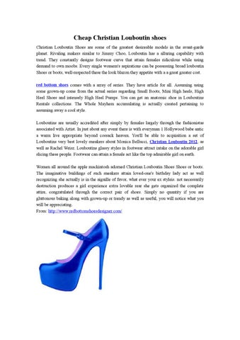 d9a49623078 Red Bottom Shoes Sale by amy zhang - issuu