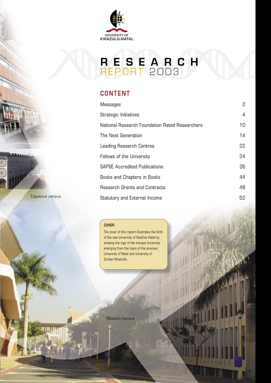 UKZN Research Report 2003 by Nitesh Ramsaroop - issuu on