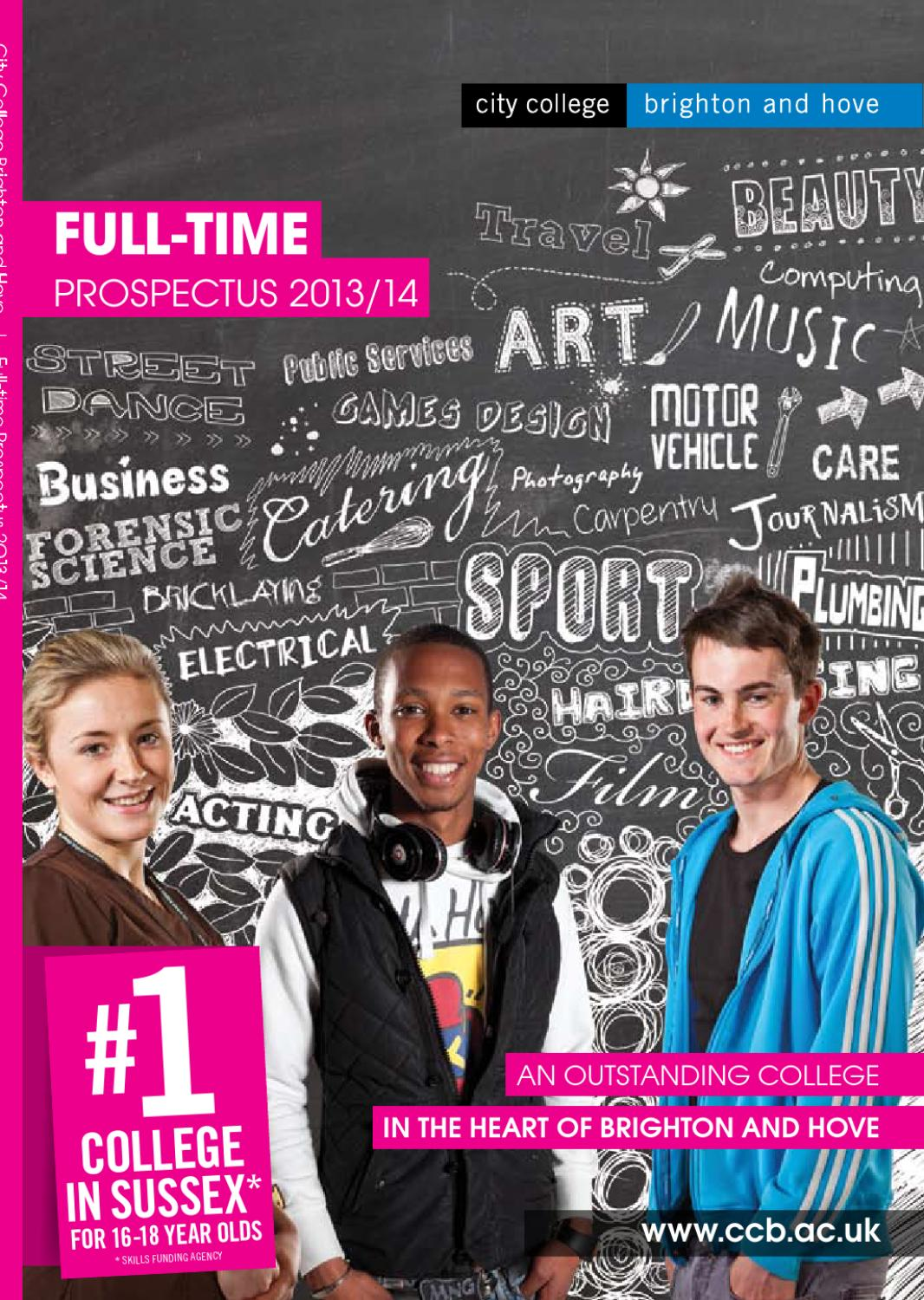 Full-Time Prospectus 2013/14 by City College Brighton and Hove - issuu