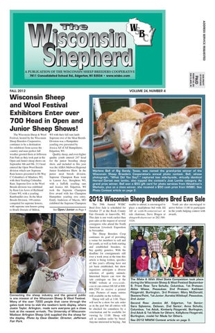 The Wisconsin Shepherd - Fall 2012 - Volume 24, Number 4 by