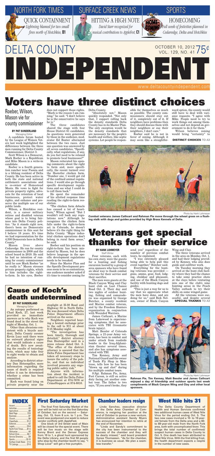 Delta County Independent, Oct. 10, 2012 by Delta County Independent ...